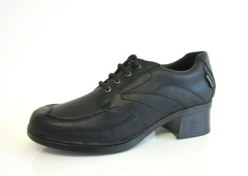 R38B Bootleg 20305806 /'No Laces/' Girls Black Leather Lace Up Shoes G Fit Kett