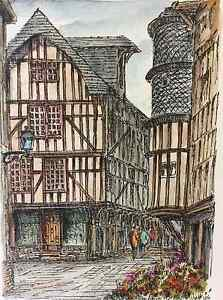 Troyes-Eau-Forte-Watercoloured-of-Monfranc-France