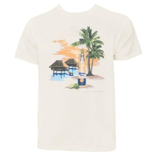 Corona Beach Scene Men/'s Ivory Off-White T-Shirt Off White