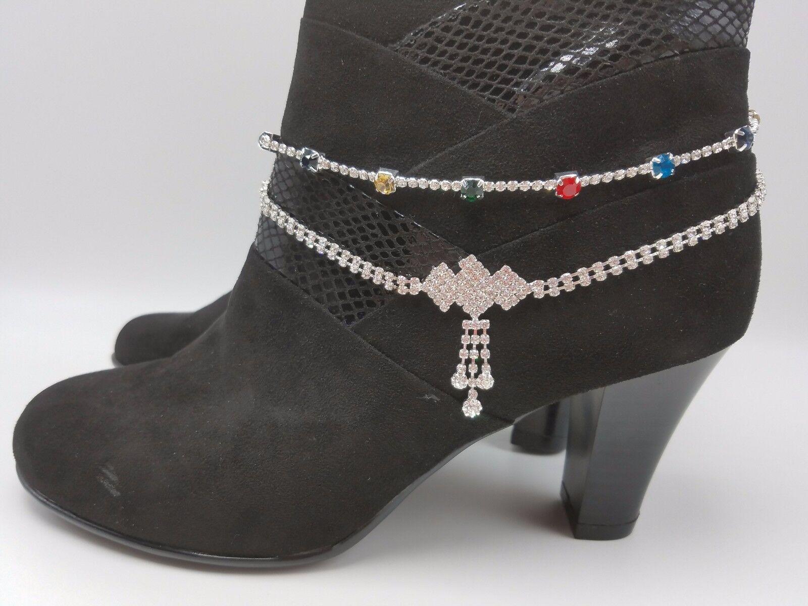 Boot Bracelet Rhinestone Anklet Glittering Bling Western Southern Cowgirl U-Pick