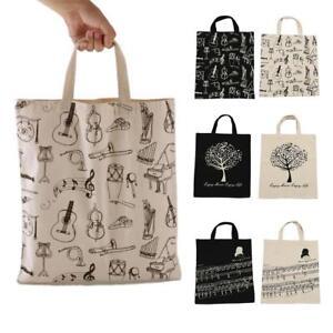 Women-039-s-Cotton-Hemp-Tote-Shoulder-Handbag-Travel-Shopping-Satchel-Folding-Bags