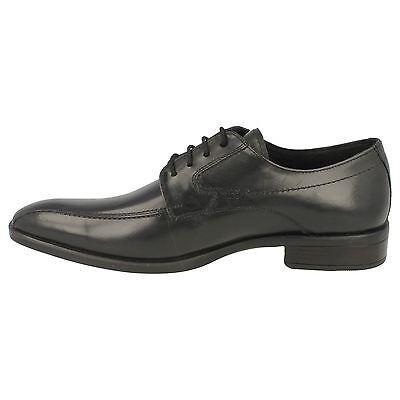 Para Hombre Negro Cuero acordonados formal Zapatos Smart Malvern tamaños UK 7 - 12 A2122