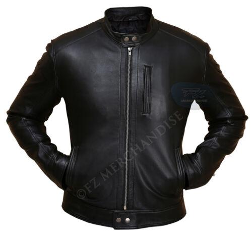 de homme d'un chasseur Veste en cuir noir motos E9eDHIYbW2