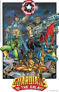 Guardians-of-the-Galaxy-Rare-Wall-Poster-22X34-Marvel-Comics-Press-118-1992-New