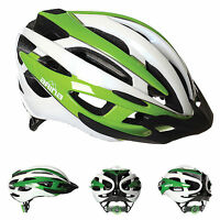 Arina Corse Pro Cycle Helmet - Adult White / Green - Road Mtb Cycling