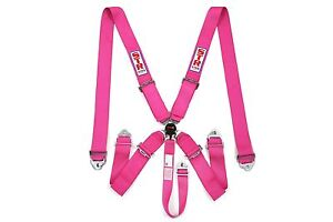 STR-SFI-5-Point-Racing-Safety-Harness-Seat-Belt-Aircraft-Camlock-F1-F2-Pink