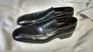 Donald J Pliner Perugia Mens Green Leather Slip-on Loafers Size 11 M Made Italy Dress Shoes