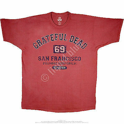 GRATEFUL DEAD SAN FRANCISCO 69 ROCK MUSIC SF CONCERT CLASSIC MEN T SHIRT M-6XL