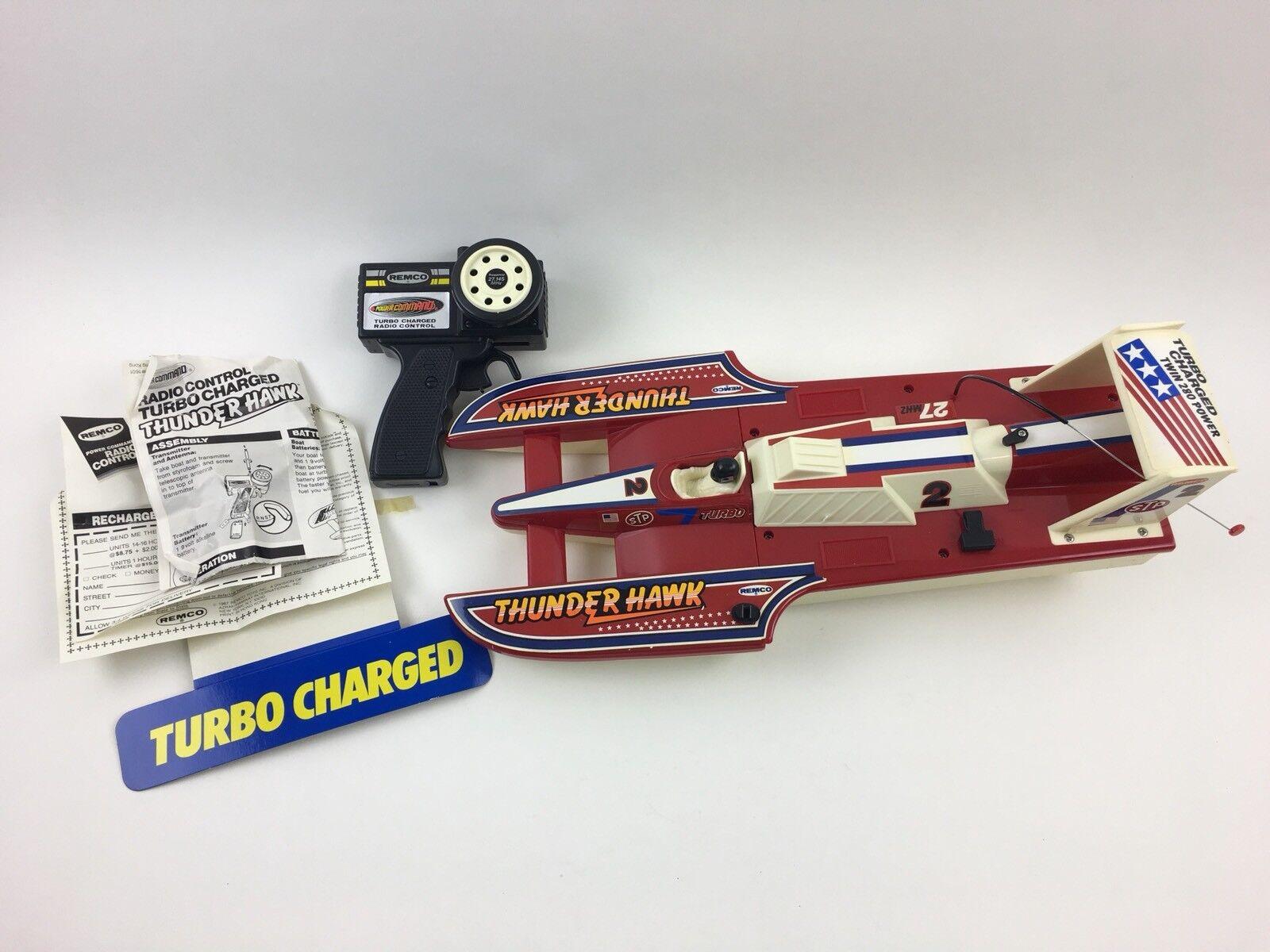 Vintage Remco Thunder Hawk Remote Control Watercraft Vehicle R/C boat new unused