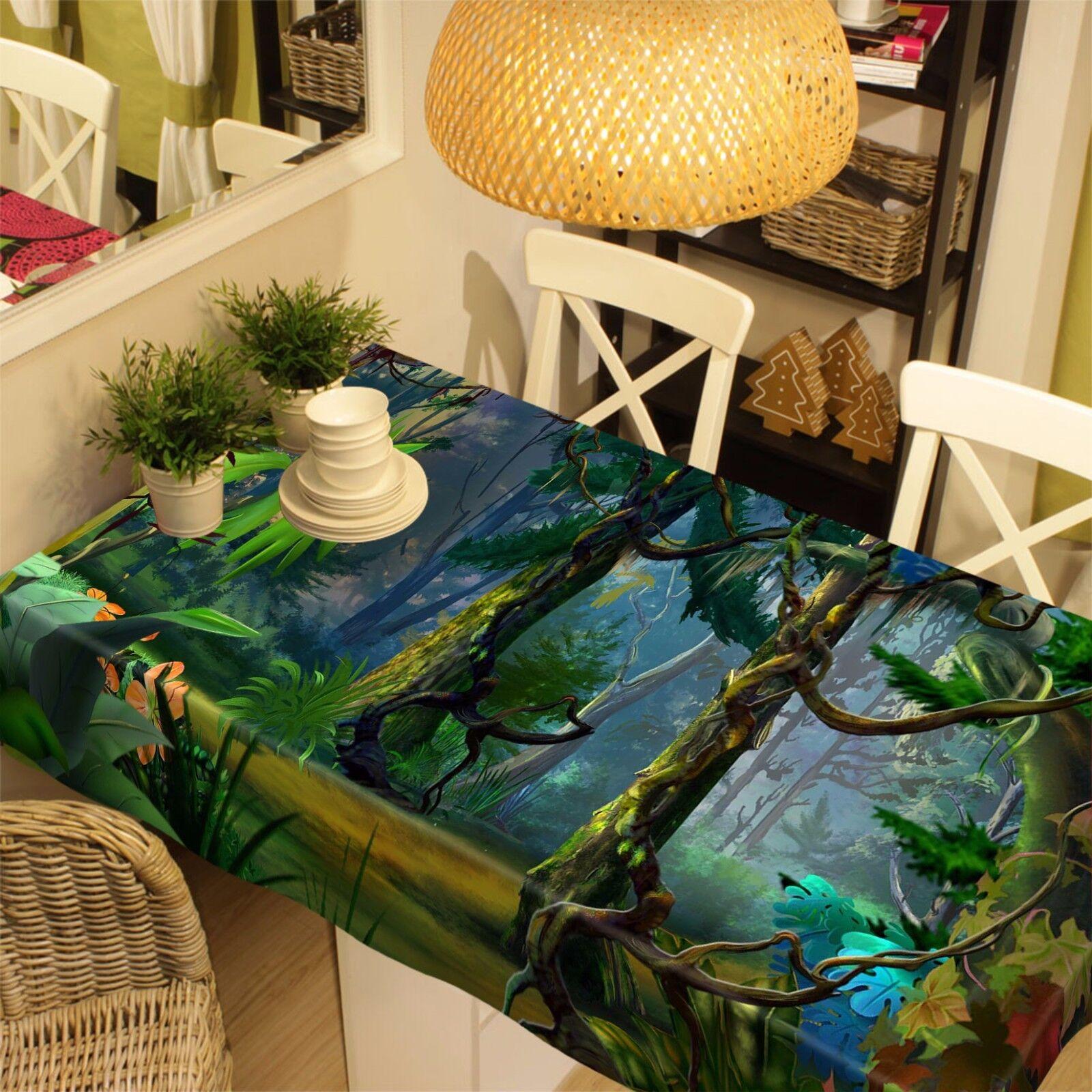 3D árboles 898 Mantel Mantel Paño Fiesta de Cumpleaños Evento AJ Wallpaper