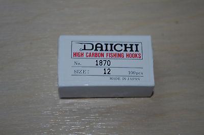 Daiichi 1870 Fly Tying  Larva Swimming Nymph Hooks 100 Pack  #12