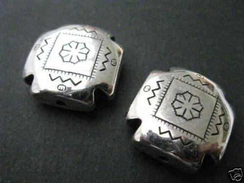 2 acrylique perles ornées de 22,5x9mm perles NEUF 4710