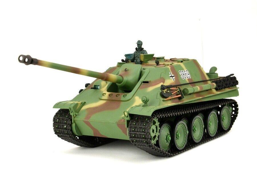RC carro armato German caccia Panther Heng Long 1/16 fumo Sound colpo funzione 2.4 GHz