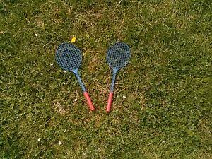Gioco-vintage-racchette-da-tennis-bambini-anni-60-in-plastica