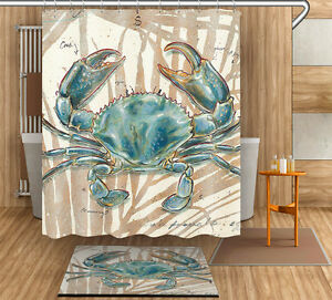 Image Is Loading 71 034 79 Blue Crab Shower Curtain