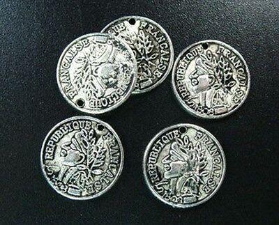 30pcs Tibetan Silver Unique Coin Charms T1468