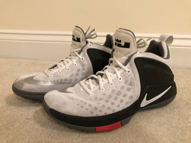 31139d752ab Used Nike Zoom Witness Basketball Shoes Mens 9 White Black Cool Grey Lebron