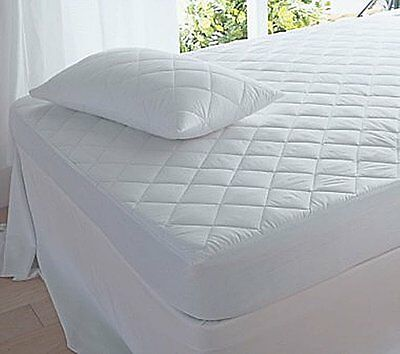 Luxury Quilted Mattress Protector OR Pillow Protectors Single Double King Super