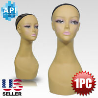 Realistic Plastic Female Mannequin Head Lifesize Display Wig Hat 18 Pd3r-24