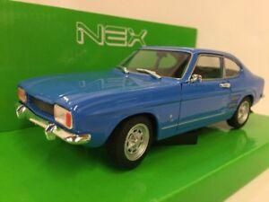 Ford-Capri-Azul-1969-Classic-Metal-Coche-Modelo-1-24-Welly
