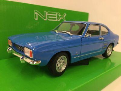 blue 1969  Classic Metal Model Car 1//24 welly Ford Capri