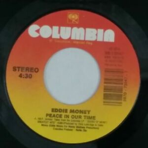 EDDIE-MONEY-Peace-In-Our-Time-b-w-Where-039-s-The-Party-3873047-7-034-45rpm-Vinyl-VG