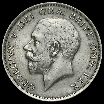1917 George V Silver Half Crown, VF