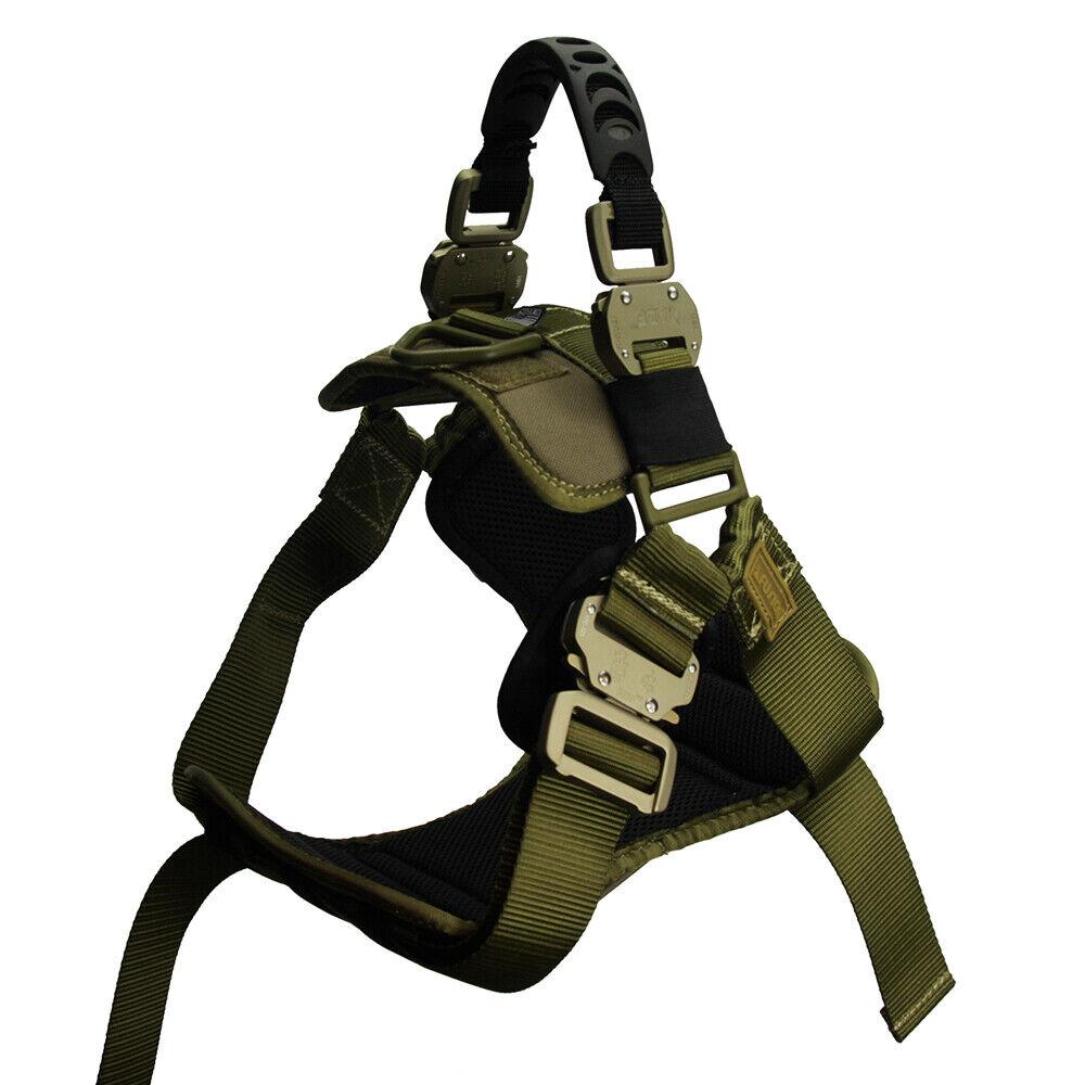 Fusion Pets Trekker Adjustable Military Tactical Police K9 Ergonomic Dog Harness