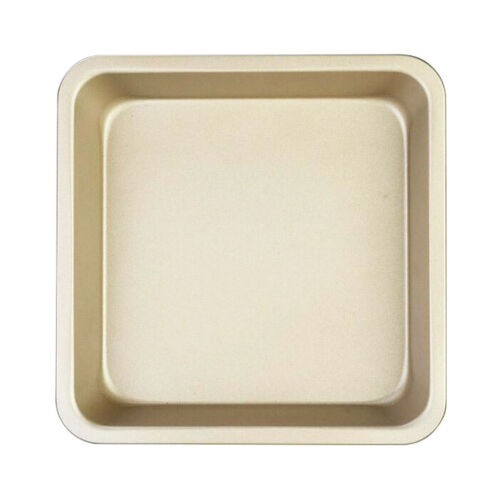 8inch Carbon Steel Cake Pan Muffin Square Pizza Pastry Baking Tray Mold Gold
