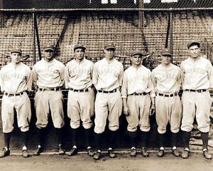 Gehrig-Lazzeri-Koenig-Durocher-Photo-8X10-1928-Yankees