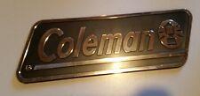 "*NEW* COLEMAN Plastic Decal Badge Black Silver RV Camper Trailer 12-1/2"""