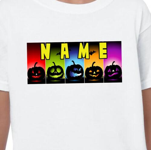 Pumpkin Personalised Name T-shirt Printed Kids Birthdays Gifts