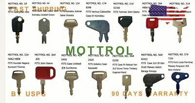 5 PK T250 Starter Keys For Ford Lucas Massey Ferguson Farmtrac JCB,new holland s