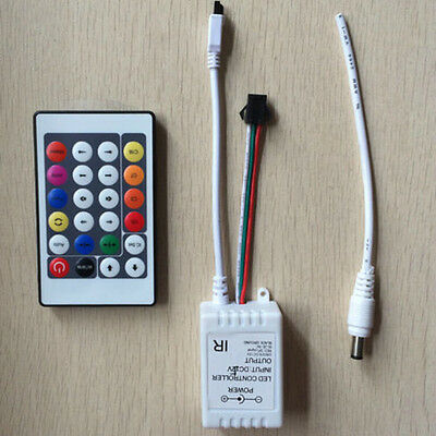 24key IR RGB Remote LED Pixel Controller WS2811 WS2812B Flexible Strip Light NEW