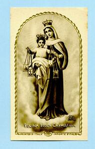 Detalles De Santino Antico Madonna Regina Decor Carmeli Image Pieuse Holy Card Santini