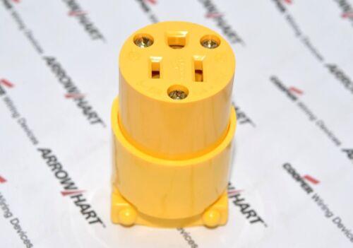 1pcs-COOPER 4887 15A 125V Commercial Grade Thermoplastic Vinyl Connector