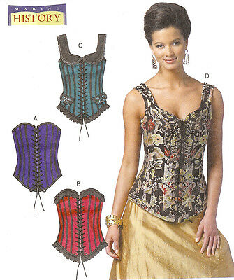 Corset PATTERN toSew Corsett Butterick 5662 Bustier Making History Laced top