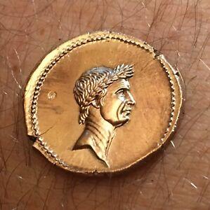 MONNAIE-DE-JULES-CESAR-Denier-Denarius-Repro-Copy-Fake-Coin-Piece