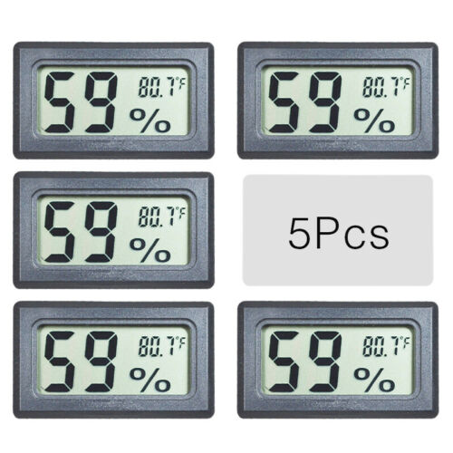 US 5 PCS LCD Indoor Meter Thermometer