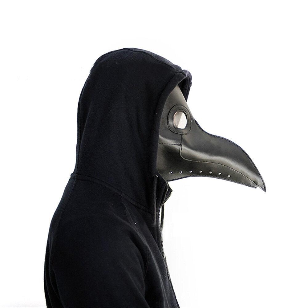 Face Mask Leather Steampunk Plague Bird Plague Doctor Cosplay Halloween Party