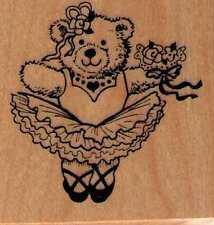 Motivstempel rubber stamp original  PSX  Bär TUTU Ballerina Ballett