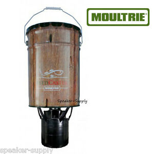 Moultrie 6 5 gallon feedcaster fish feeder hanging pond for Fish feeders for ponds