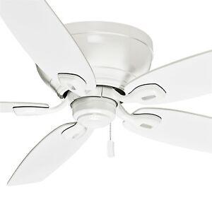 54 Casablanca Ceiling Fan Snow White Low Profile Design For Low Ceilings Ebay