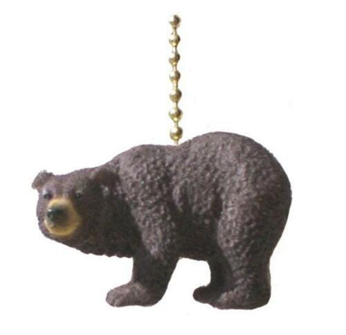 Mountain Lodge Black Bear Decorative Ceiling Fan Pull