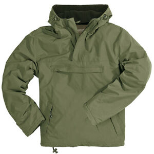 Windbreaker Hooded Mens Wind Rain Jacket with Warm Fleece Surplus ... c1f16676a3d