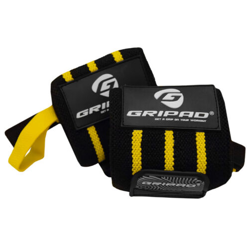 "Gripad 12/"" x 3/"" Weight Lifting Support Wrist Wraps"