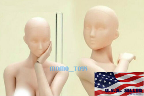 1//6 Unpainted Female Head Sculpt For Phicen JiaouDoll Hot Toys PALE Skin ❶USA❶