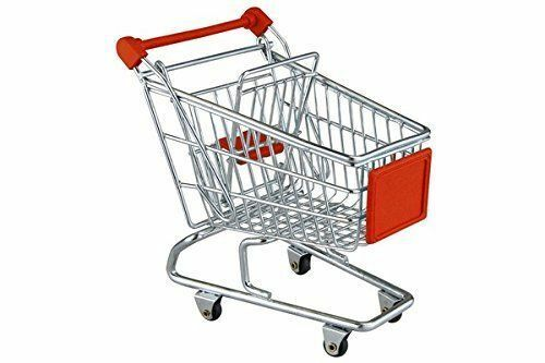 Chrome Mini Shopping Trolley Stationary Storage Wire Construction Luggage