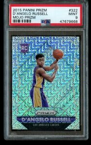 2015-16-Panini-Prizm-D-039-Angelo-Russell-25-Mojo-Rookie-PSA-9-Mint-322-RC