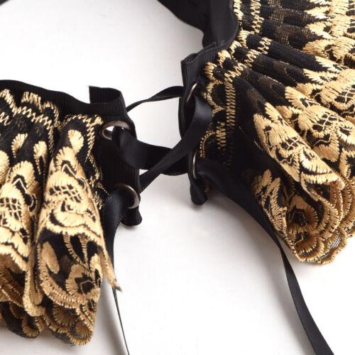 Vintage Renaissance Neck Ruff Ruffled Collar Elizabethan Cosplay Theater Ruff
